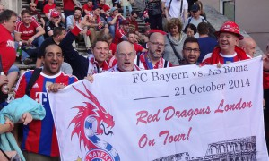 The Red Dragons mark the occasion with the special dated flag...